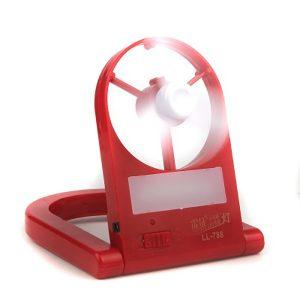 lampe led rechargeable avec mini fan 2 en 1